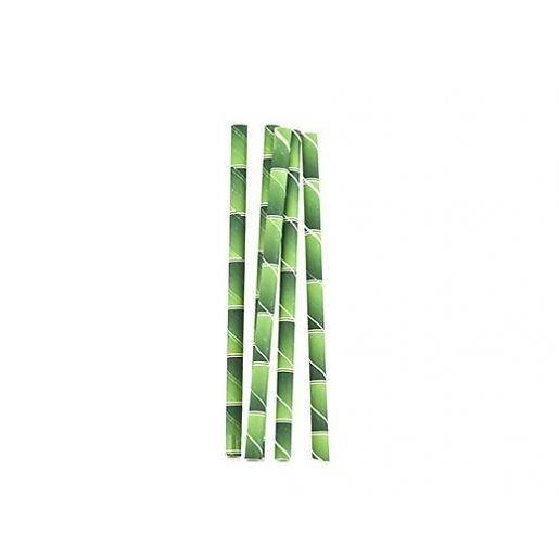 """Rurki (słomki) papierowe , cocktailowe, """"Bambus"""" 19,5cm ..."""
