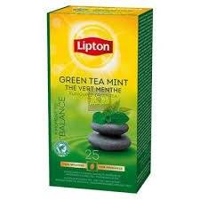 Herbata Lipton Green Tea  Mint 25 kopert foliowych